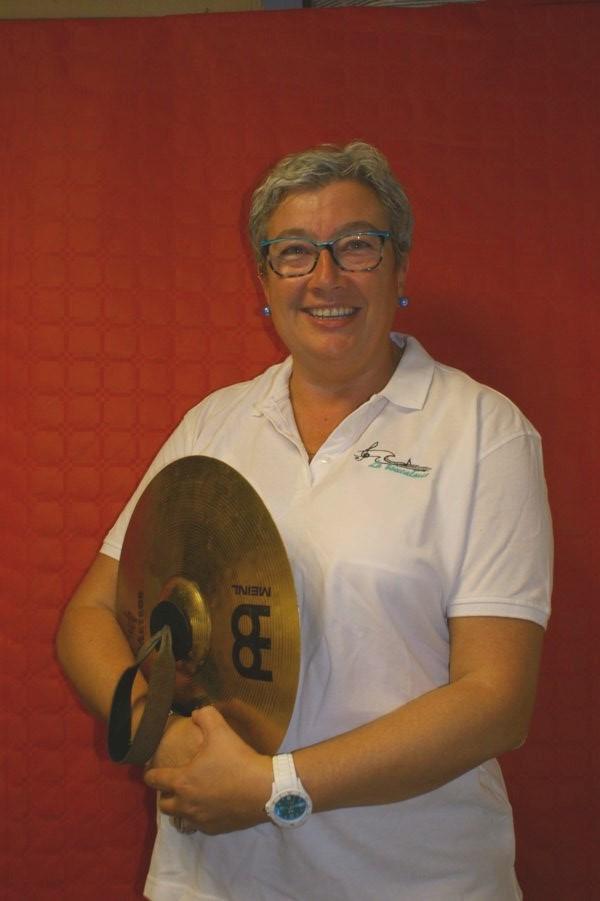 Céline cymbales membre CA musicienne musique fanfare la-boucalaise harmonie