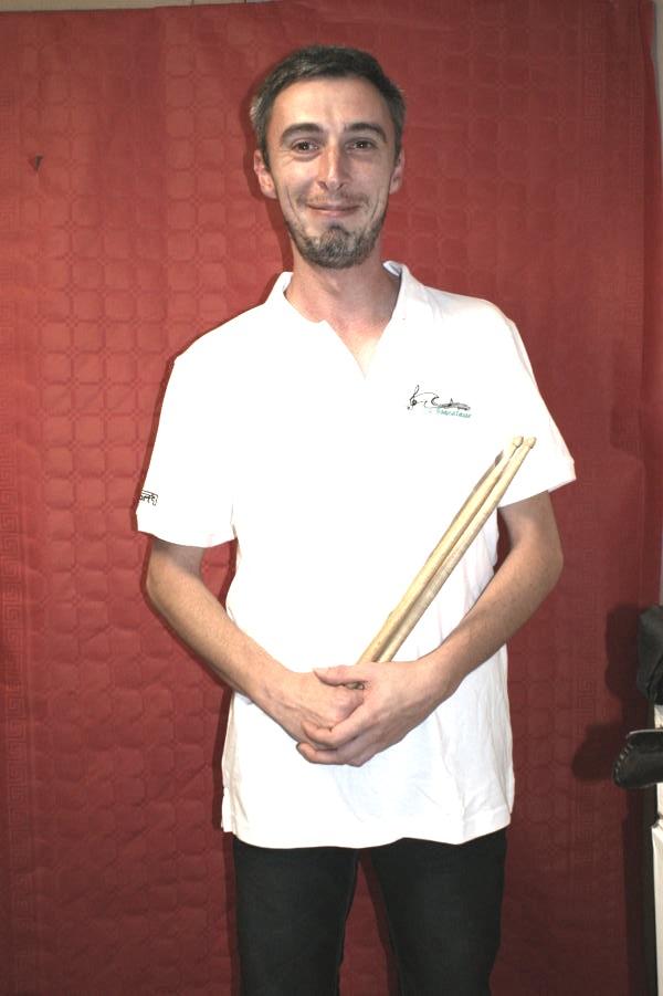 frederic membre ca percussions caisse claire musicien fanfare la-boucalaise harmonie musique banda