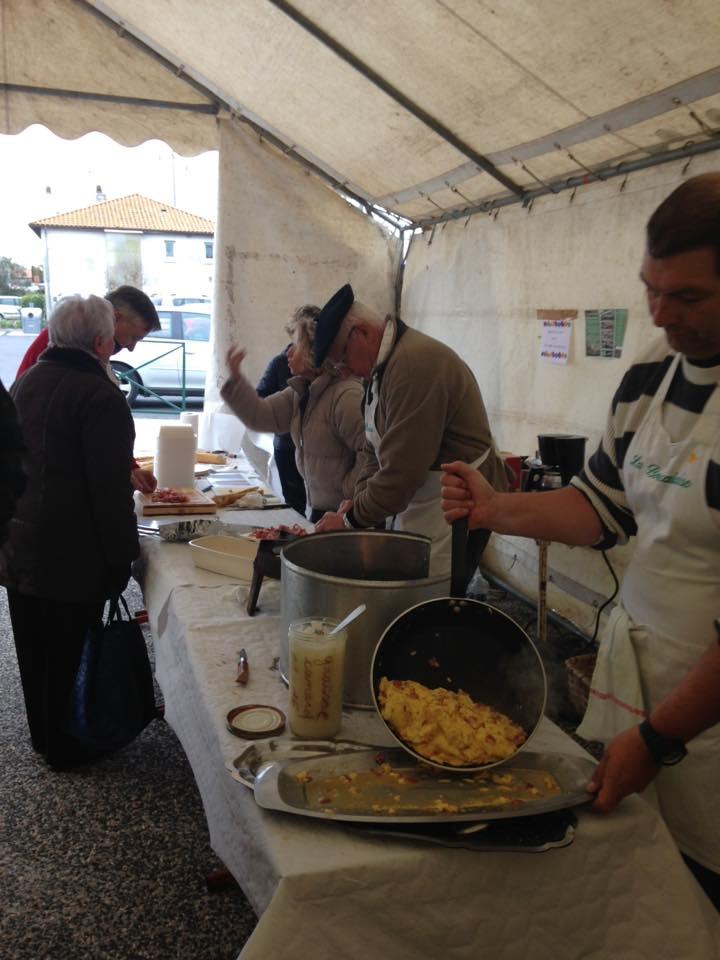 omelette pascale centre communal action sociale fanfare la-boucalaise harmonie bandas musique