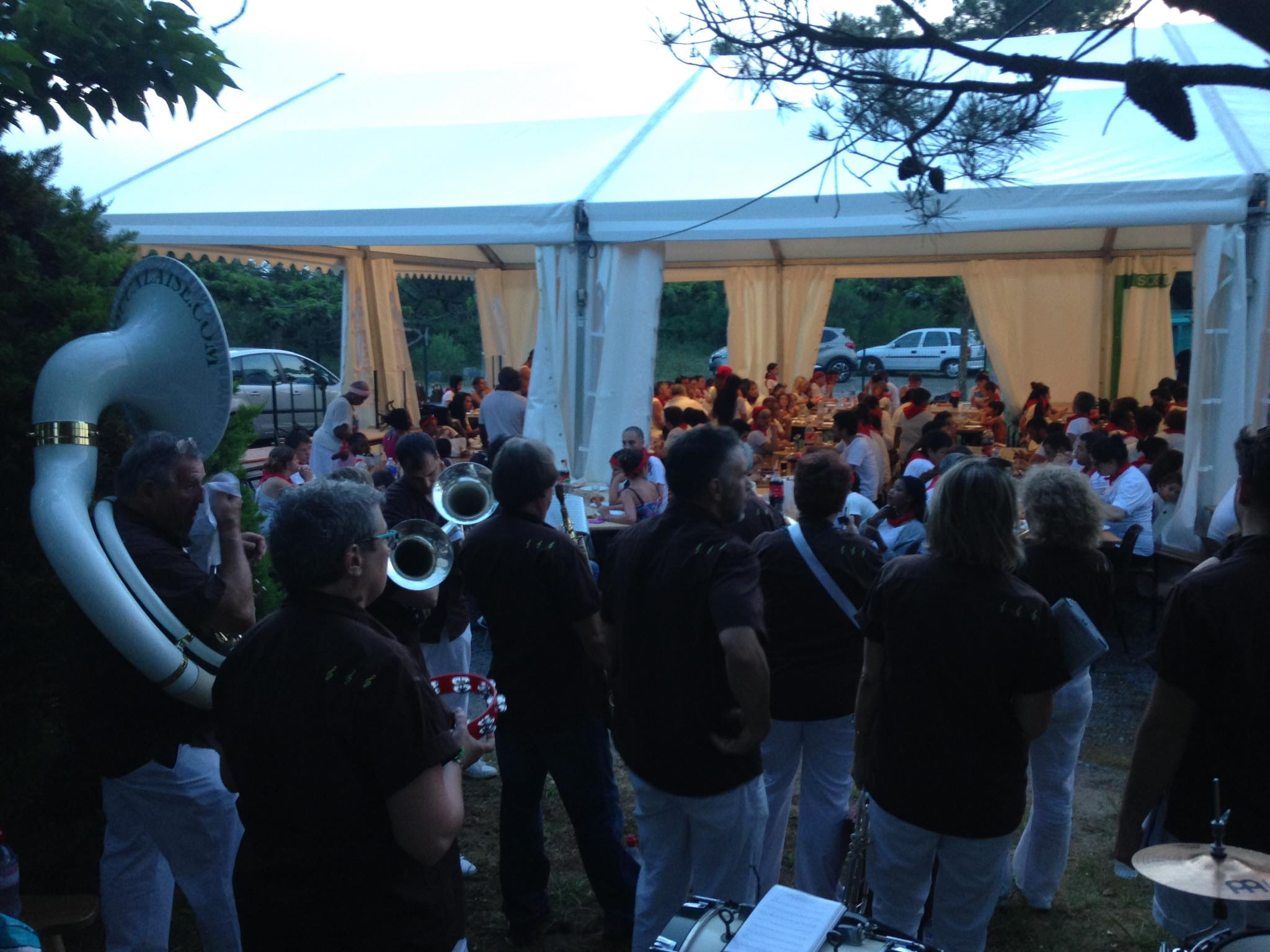 touristra tarnos animation repas fanfare la-boucalaise musique harmonie bandas